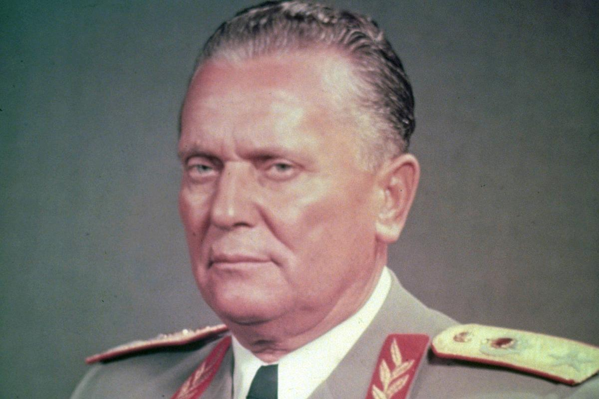This is a March 1956 photo of Yugoslavian president Josip Broz Tito, posing in his Marshal's uniform. (AP Photo)