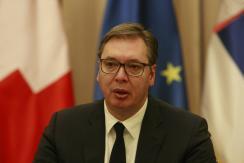 Aleksandar Vučić szerb államfő (Fotó: Beta)