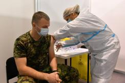 A Szerb Katonaság kötelékében szolgálókra is kiterjesztették a vakcinációt (Fotó: Beta)
