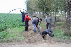 Az összekötő vízvezeték lehelyezése Kavilló és Szvetityevó között