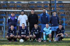 Az Egység első csapata az első tavaszi edzésen (Lakatos János felvétele)