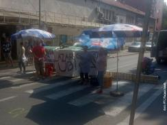 Karaburmai tüntetés (Fotó: Szerbiai RTV)