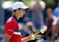 Hubert Hurkacz révén Roger Federer kikerült az első tízből (Fotó: Beta/AP)
