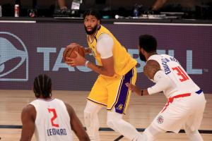 Anthony Davis 34 ponttal vezette a Lakerst (Fotó: Yahoo Sports)