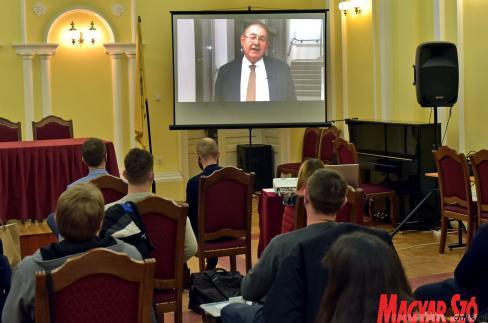 Pásztor István videoüzenetben köszöntötte a megjelenteket (Fotó: Gergely Árpád)