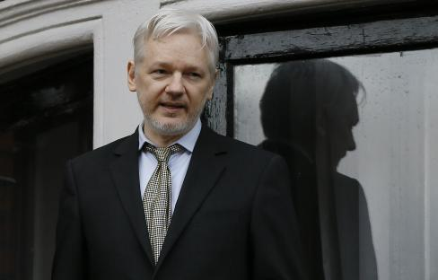 Julian Assange (Fotó: Beta/AP)