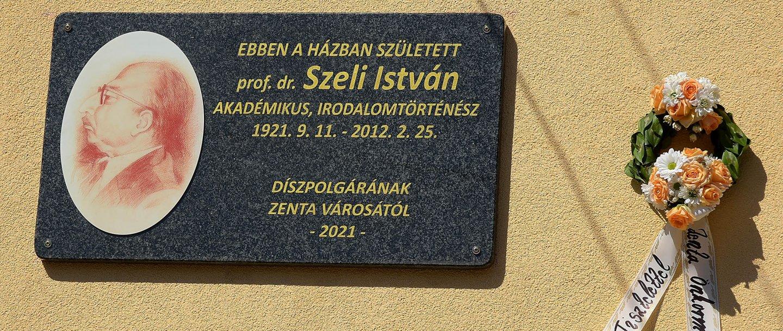 Emléktábla és mellszobor Szeli Istvánnak