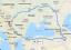Az Irány Irán túra tervezett útvonala (Fotó:facebook.com/theredcyclist)<br />